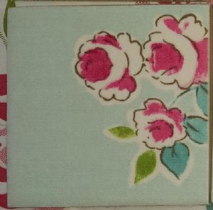 Clarke & Clarke Abigail Flower Ceramic Wall Tiles Duckegg